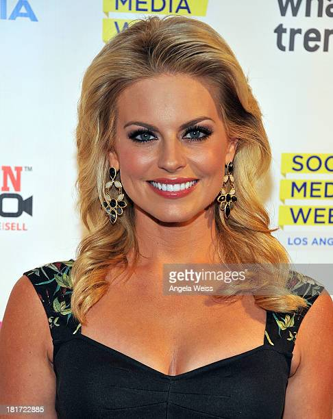 Courtney Friel attends the Social Media Week Los Angeles opening night party to celebrate Social 25 honorees at 41 Ocean Club on September 23 2013 in...