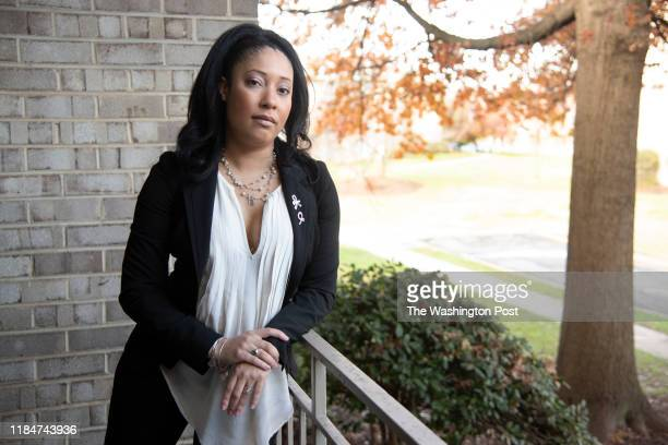 GREENBELT MD NOVEMBER Courtney Glass 36 a preventative double mastectomy in 2016 She photographed at her home in Greenbelt Maryland on November 2019...