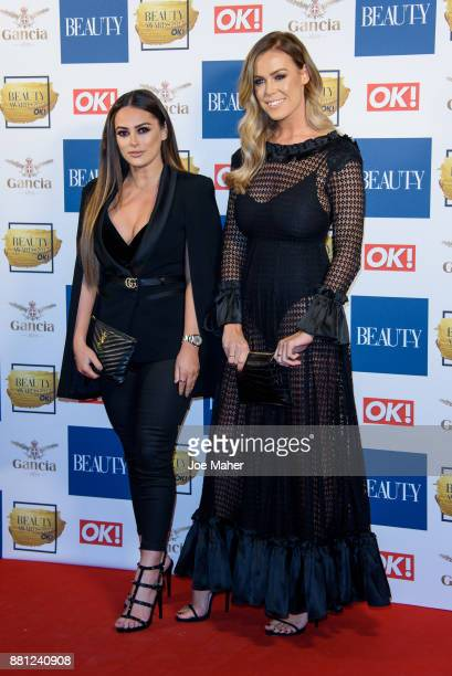 Courtney Green and Chloe Meadows attend The Beauty Awards at Tower of London on November 28 2017 in London England
