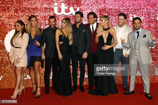 Courtney Green Chloe Meadows Pete Wicks Lauren Pope Dan Edgar James Argent Chloe Sims James Diags and Liam Blackwell arriving at the ITV Gala held at...