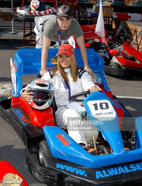 Courtney Hansen and Shawn Pyfrom during 1st Annual Art of Cart Go Cart Race at Queen Mary of Long Beach in Long Beach California United States