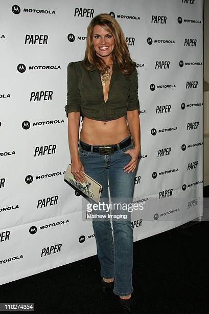 Courtney Hansen during PAPER Magazine Motorola Present the Beautiful People Party West Arrivals at Social Hollywood in Los Angeles California United...