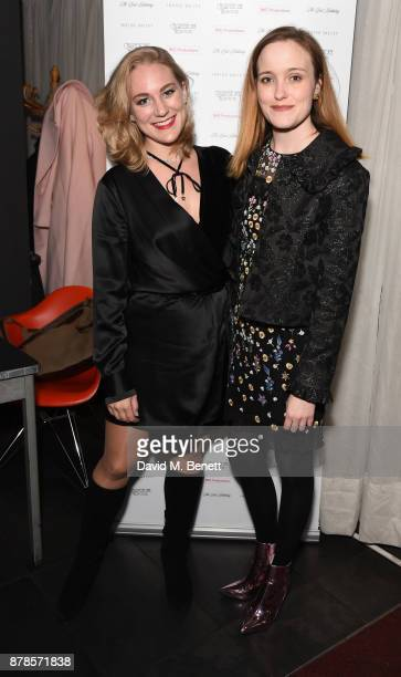 Courtney Harmstone and Jaclyn Bethany attend a screening of short films Indigo Valley and The Last Birthday at Shortwave Cinema on November 24 2017...
