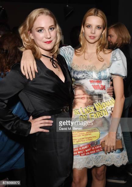 Courtney Hartmstone and Greta Bellamacina attend a screening of short films 'Indigo Valley' and 'The Last Birthday' at Shortwave Cinema on November...