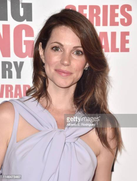 Courtney Henggeler attends the series finale party for CBS' The Big Bang Theory at The Langham Huntington Pasadena on May 01 2019 in Pasadena...