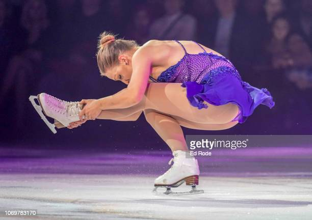 Courtney Hicks skates at the Scott Hamilton Friends Nashville Ice Show at Bridgestone Arena on November 18 2018 in Nashville Tennessee