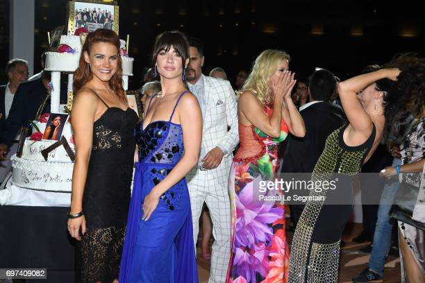 Courtney Hope and Jacquelines MacInnes Wood attend the 'The Bold and The Beautiful' 30th Years anniversary during the 57th Monte Carlo TV Festival...