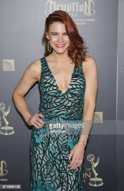 Courtney Hope attends the 44th Annual Daytime Creative Arts Emmy Awards Press Room at Pasadena Civic Auditorium on April 28 2017 in Pasadena...