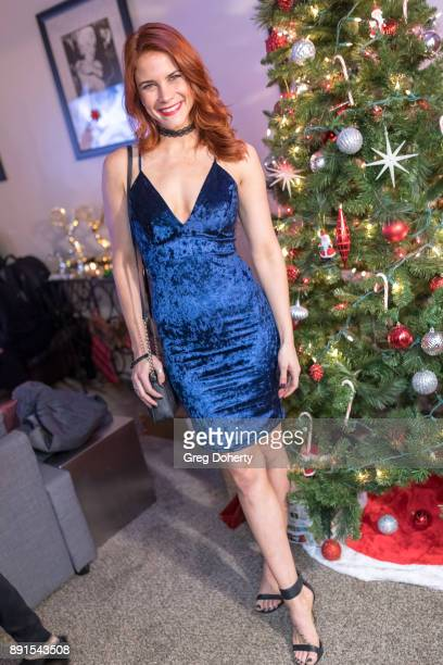 Courtney Hope attends The Bay Ugly Sweater And Secret Santa Christmas Party at Private Residence on December 12 2017 in Los Angeles California