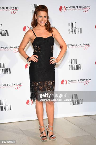 Courtney Hope attends the 'The Bold and The Beautiful' 30th Anniversary during the 57th Monte Carlo TV Festival Day 3 on June 18 2017 in MonteCarlo...