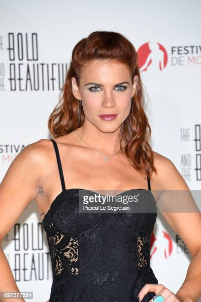 Courtney Hope attends the 'The Bold and The Beautiful' 30th Years anniversary during the 57th Monte Carlo TV Festival Day 3 on June 18 2017 in...