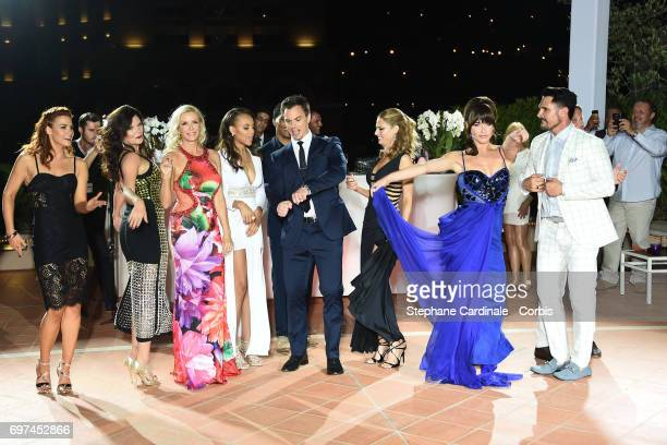 Courtney Hope Heather Tom Katherine Kelly Lang Reign Edwards Darin Brooks Kelly Kruger Jacqueline MacInnes Wood and Don Diamont dance during the 'The...