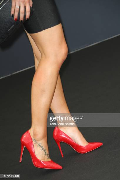 Courtney Hope shoe detail attends 'The Bold and The Beautiful' Photocall as part of the 57th Monte Carlo TV Festival at the Grimaldi Forum on June 18...