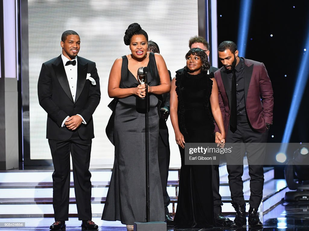 Courtney Kemp Agboh accepts the Outstanding Drama Series award for 'Power' onstage at the 49th NAACP Image Awards on January 15, 2018 in Pasadena, California.
