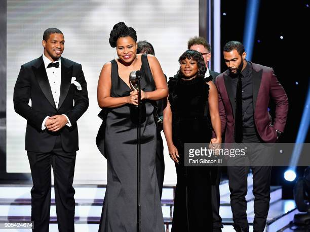 Courtney Kemp Agboh accepts the Outstanding Drama Series award for 'Power' onstage at the 49th NAACP Image Awards on January 15 2018 in Pasadena...