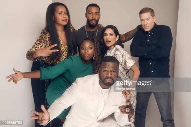 Courtney Kemp Agboh Naturi Naughton Omari Hardwick Curtis 50 Cent Jackson Lela Loren and Joseph Sikora of Starz's 'Power' pose for a portrait during...
