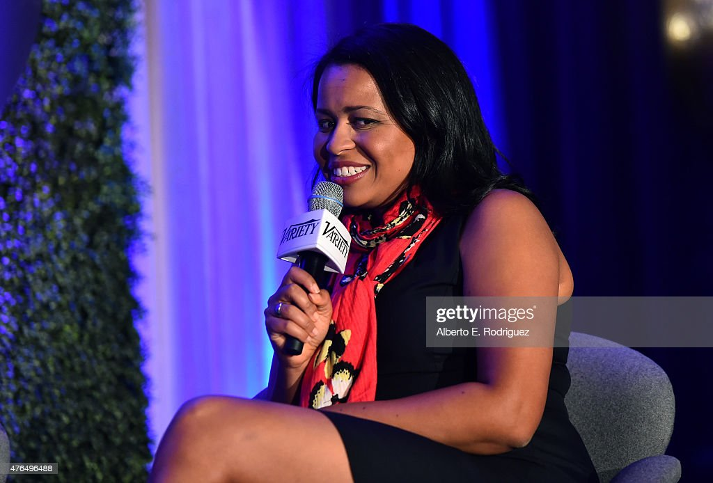Courtney Kemp Agboh of 'Power' speaks at Variety's A Night In The Writers' Room at the Four Seasons on June 9, 2015 in Los Angeles, California.