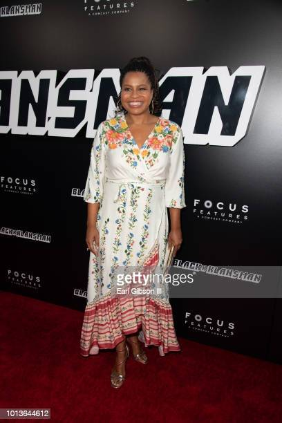 "Courtney Kemp attends the Premiere Of Focus Features ""BlackkKlansman"" at Samuel Goldwyn Theater on August 8, 2018 in Beverly Hills, California."