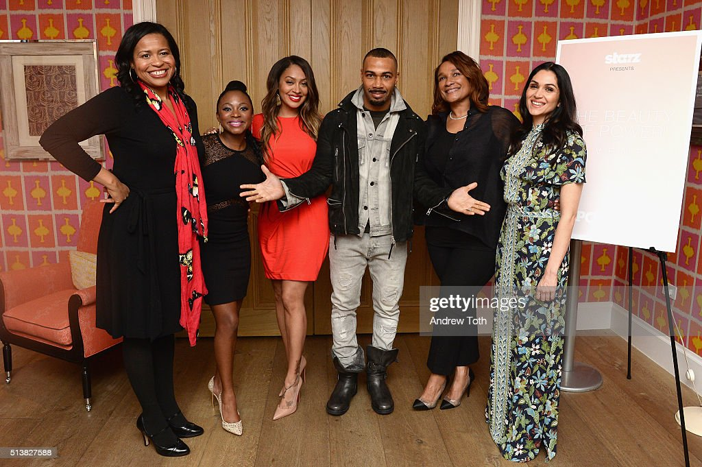 Courtney Kemp, Naturi Naughton, La La Anthony, Omari Hardwick, Anita Gibson and Lela Loren attend the The Beauty Of Power Event at Crosby Hotel on March 4, 2016 in New York City.