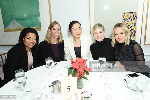 Courtney Kemp Sarah Watson Aya Kanai Lisa Donovan and Misha Nonoo attend Hearst Chief Content Officer Joanna Coles Hosts the Hearst 100 Luncheon at...