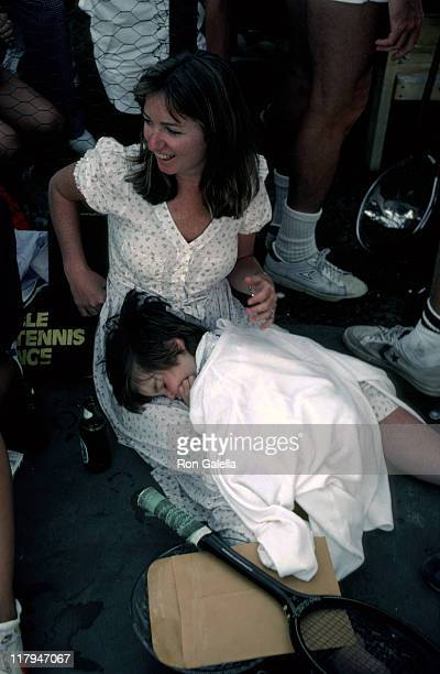 Courtney Kennedy and Kathleen Kennedy's daughter during RFK ProCelebrity Tennis Tounament August 1981 at Kennedy Compound in New York City New York...