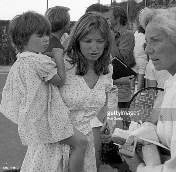 Courtney Kennedy and neice Meaghan Anne Kennedy Townsend and Ethel Kennedy attend Robert F Kennedy ProCelebrity Tennis Tournament on August 21 1981...