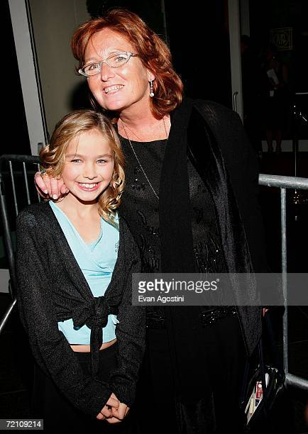 Courtney Kennedy Hill and daughter Saoirse Kennedy Hill attend the Speak Truth To Power Memorial Benefit Gala at Pier Sixty October 6 2006 in New...