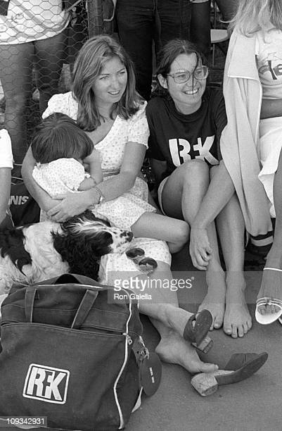 Courtney Kennedy Kathleen Kennedy and daughter Meaghan Anne Kennedy Townsend attend Robert F Kennedy ProCelebrity Tennis Tournament on August 21 1981...