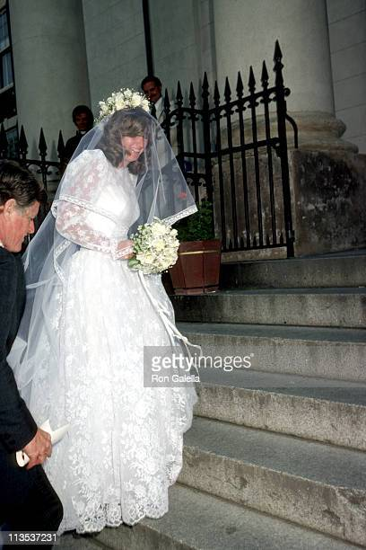 Courtney Kennedy Ted Kennedy during Courtney Kennedy and Jeff Ruhe Wedding at Holy Trinity Church in Washington DC United States