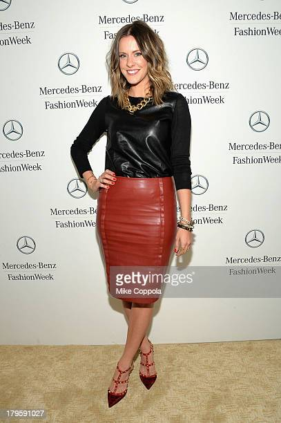 Courtney Kerr attends the MercedesBenz Star Lounge during MercedesBenz Fashion Week Spring 2014 at Lincoln Center on September 5 2013 in New York City