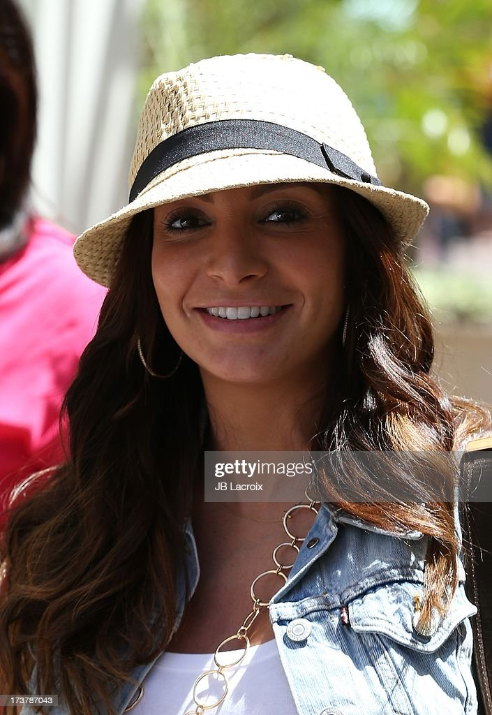 Courtney Laine Mazza is seen at The Grove on July 17, 2013 in Los Angeles, California.