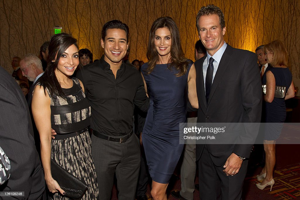 Courtney Laine Mazza, Mario Lopez, Rande Gerber and Cindy Crawford celebrate their favorite destination at the LA premiere of 'Mexico: The Royal Tour' at JW Marriott Los Angeles at L.A. LIVE on September 21, 2011 in Los Angeles, California.