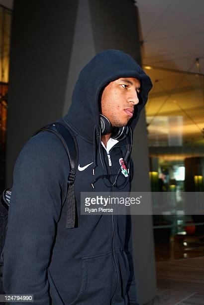 Courtney Lawes of England leaves a tribunal hearing into an incident during Saturday's IRB Rugby World Cup 2011 match between England and Argentina...