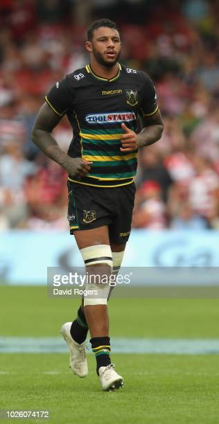 Courtney Lawes of Northampton looks on during the Gallagher Premiership Rugby match between Gloucester Rugby and Northampton Saints at Kingsholm...
