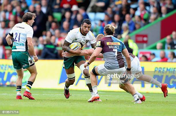 Courtney Lawes of Northampton Saints in action during the Aviva Premiership match between Harlequins and Northampton Saints at Twickenham Stoop on...