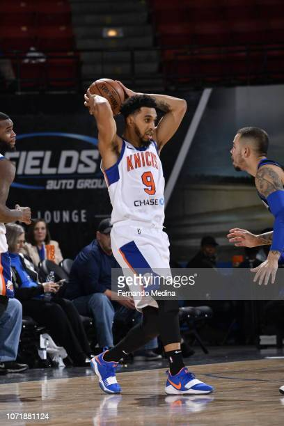 Courtney Lee of the Westchester Knicks moves the ball against the Lakeland Magic during the game on December 11 2018 at RP Funding Center in Lakeland...