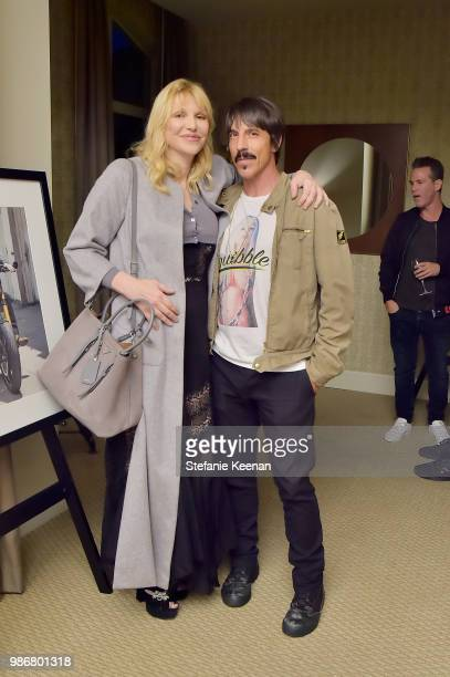Courtney Love and Anthony Kiedis attend Diesel Presents Scott Lipps Photography Exhibition 'Rocks Not Dead' at Sunset Tower on June 28 2018 in Los...