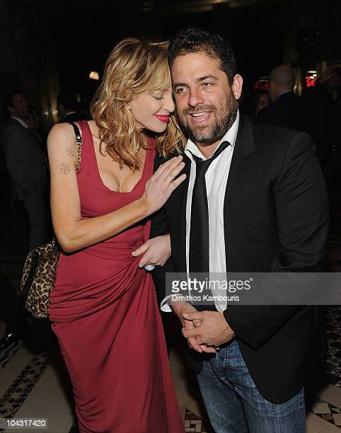 Courtney Love and Brett Ratner attend the premiere of Wall Street Money Never Sleeps at the Cipriani 42nd Street on September 20 2010 in New York City