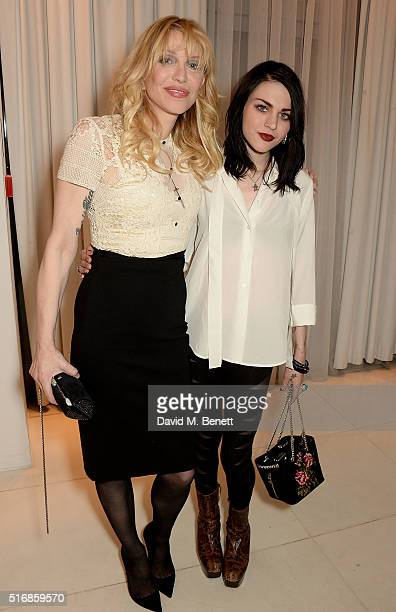 Courtney Love and daughter Frances Bean Cobain attend a special In Conversation event with Courtney Love as part of the Liberatum 'Women in...