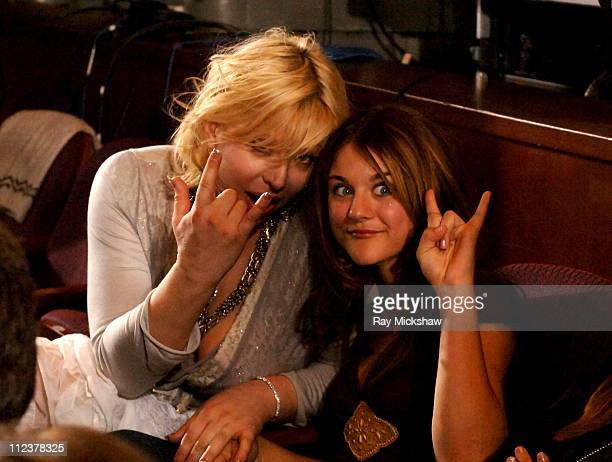 Courtney Love and daughter Frances Bean Cobain during 'American Idol' Season 4 Finale Backstage and Audience at Kodak Theatre in Hollywood California...