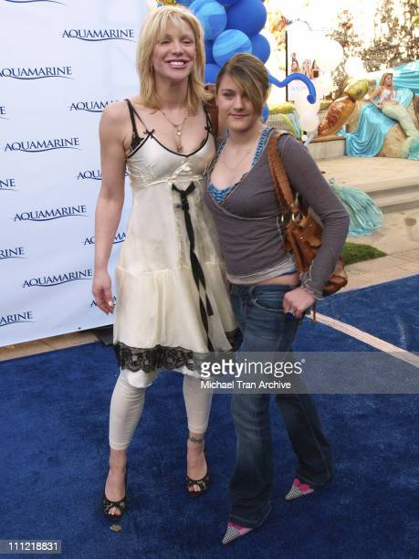 Courtney Love and daughter Frances Bean Cobain during 'Aquamarine' Los Angeles Premiere Arrivals at Fox Studio Lot in Los Angeles California United...