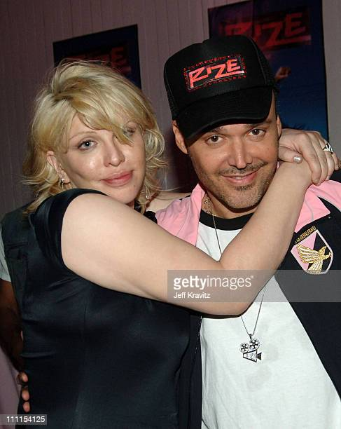 Courtney Love and David LaChapelle during Rize Los Angeles Premiere After Party at LaChapelle Studio in Hollywood California United States