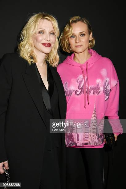 Courtney Love and Diane Kruger attend YSL Beauty Party During Paris Fashion Week Menswear Fall/Winter 20182019 on January 17 2018 in Paris France