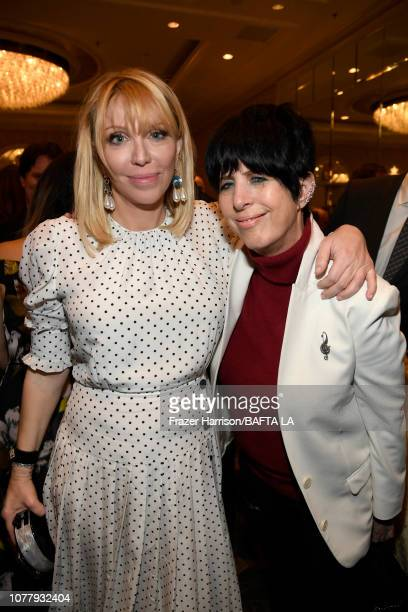 Courtney Love and Diane Warren attend The BAFTA Los Angeles Tea Party at Four Seasons Hotel Los Angeles at Beverly Hills on January 5 2019 in Los...