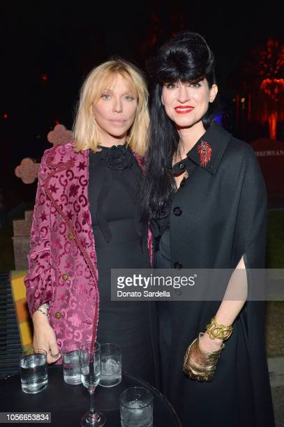 Courtney Love and Floria Sigismondi attend Gucci Guilty Launch Party at Hollywood Forever on November 2 2018 in Hollywood California