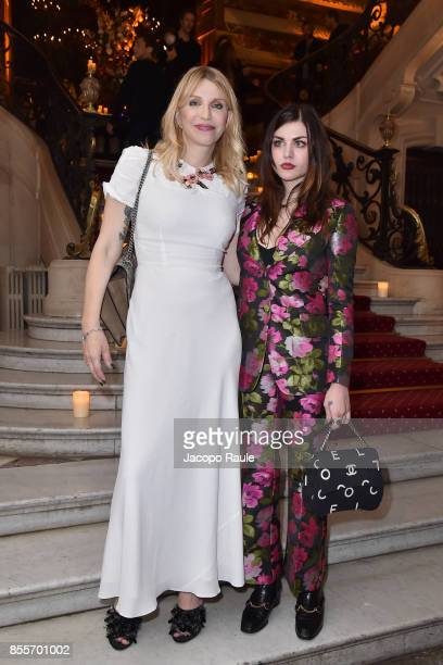 Courtney Love and Frances Bean Cobain attend the 20 Years Of MariaCarla Party as part of the Paris Fashion Week Womenswear Spring/Summer 2018 on...
