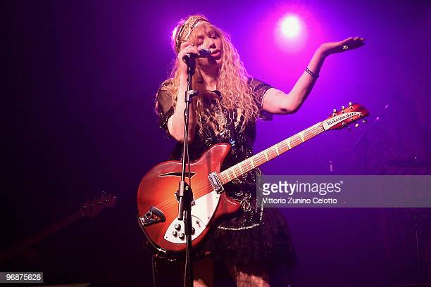 Courtney Love and Hole perform at Magazzini Generali on February 19, 2010 in Milan, Italy.