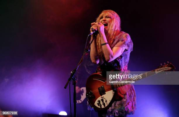 Courtney Love and Hole perform at the NME Shockwaves awards Show at Shepherd's Bush Empire on February 17 2010 in London England