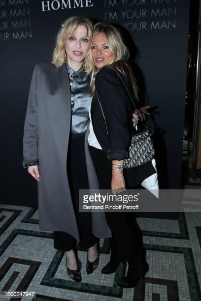Courtney Love and Kate Moss attend the Dior Perfume Dinner, as part of Paris Fashion Week, at Caviar Kaspia on January 17, 2020 in Paris, France.