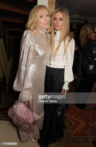 Courtney Love and Laura Bailey attend the Charles Finch CHANEL PreBAFTA Party at 5 Hertford Street on February 1 2020 in London England